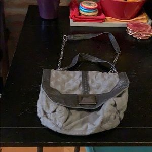 Rachel Roy Grey Wool Purse